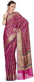Banarasi Silk Works Purple Banarasi Silk Saree