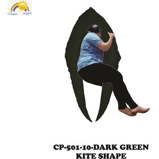 Comfort Pillows Kite Shape CP501 Dark Green Maternity/Pregnancy Fiber Pillow For pregnant women Wgt-2.59Kg 152 X 95 X 88