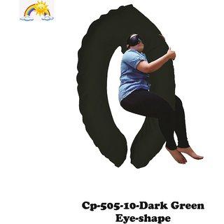 Comfort Pillows Eye Shape CP505 Dark Green Maternity/Pregnancy Fiber Pillow For pregnant women Wgt-3.45kg 1409363mm