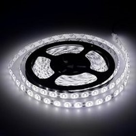 5 METER WHITE LED STRIP (12 VOLT DC) WITHOUT ADAPTER (NON WATERPROOF)