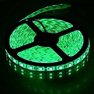5 Meter Green LED Strip Non Waterproof 12 Volt Dc (Can Be used with Ac to Dc Adapter or 12V Battery Only)