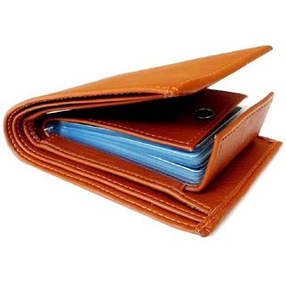 Tan PU Single fold Wallet for Mens (Synthetic leather/Rexine)