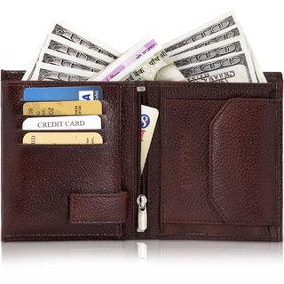 POLLSTAR Vertical Elastic Genuine Leather RFID Blocking Wallet For Mens (WL59BN)