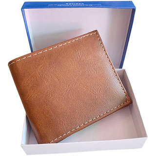 fashlook mens tan wallet