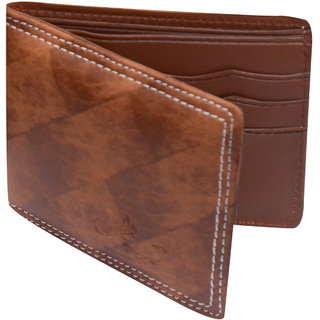 Stylish Brown PU Single fold Wallet (Synthetic leather/Rexine)