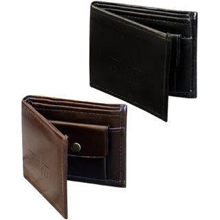 UNIQUE COMBO OF WALLET ( 1 BLACK+ 1 BROWN) (Synthetic leather/Rexine)
