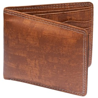 Brown PU Single fold Wallet For Men (Synthetic leather/Rexine)