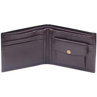 Brown Leatherite Bi-fold Wallet (Synthetic leather/Rexine)