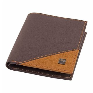 Woodland Scenics Leather Brown Fashion Short Wallet (Synthetic leather/Rexine)