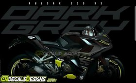 CR Decals PULSAR RS 200 Custom Decals/Stickers/Wrap Full Body DARK GREY LIMITED EDITION KIT