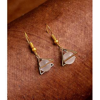 Voylla Work Wear Crystal Ball Dangler Earrings