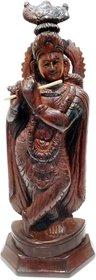 Lord Krishna Rose wood idol