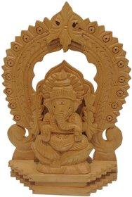 Lord Ganesha Wooden Arch Idol