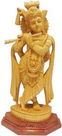 Lord Krishna Wooden idol