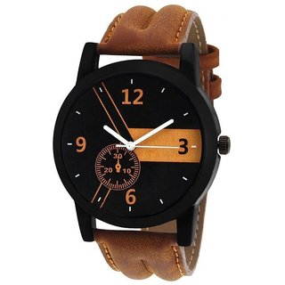 Brown Leather Belt lorem Watch For Men,Boys