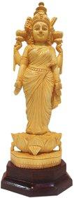 Goddess Lakshmi wooden idol