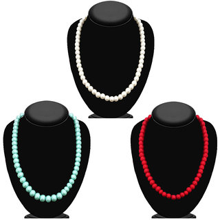 JewelMaze Set of 3 Pearl Mala Combo - 1004012