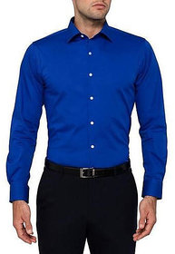 Royal Fashion Formal Royal Blue Cotton Shirt For Men