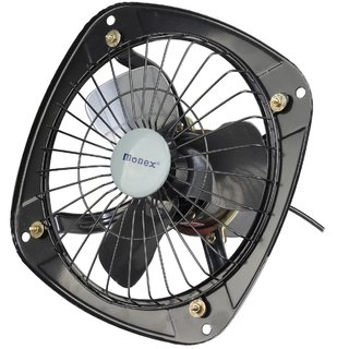 Monex Indian Electrical 9 inch Ventilation Exhaust Fan with Reverse and Forward Air Flow Function for Kitchens Bathroom