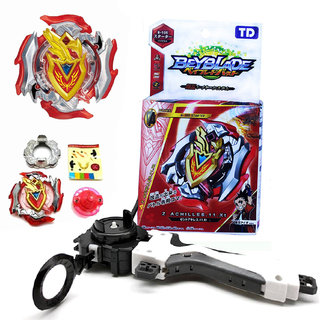 TreandKart Gyro Battling Top Beyblade Burst B105 Z Achiller.11.Xt Starter Toy Set with Launcher (Red)