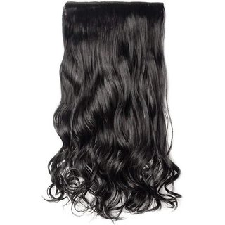 Maahal Best Quality 26Inches Natural Black Curly Hair Extension