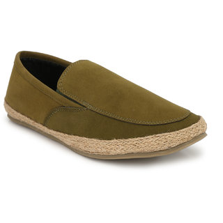 El Paso Men's Kahkee Suede Leather Summer Wear Espadriles Loafer Shoes