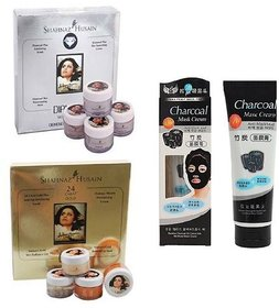 charcoal mask gold and diamond facial kit