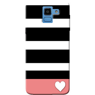 Cellmate Stripes Pattern Designer UV Printed Soft Silicone Mobile Back Case Cover For Samsung Galaxy On6 (2018)