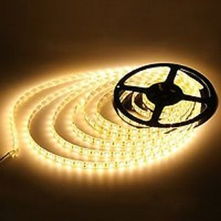 5 METER WARM WHITE LED STRIP (12 VOLT DC) WITHOUT ADAPTER (WATERPROOF)
