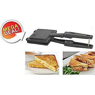 Surya Special Black Aluminium Non Stick  Non Electric Gas Toaster