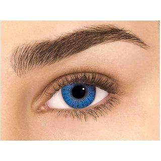 Imax Blue Colour Monthly(Zero Power) Contact Lens