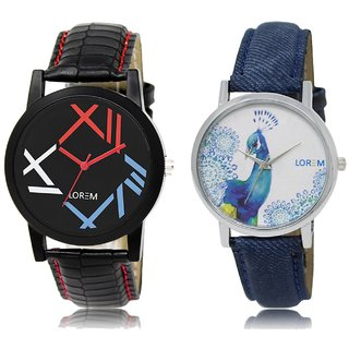 LOREM Analog  Multicolor Dial Wrist watch For  Couple-LK-12-241