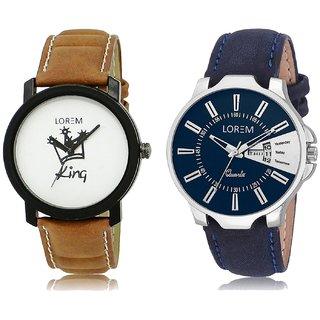 LOREM Analog  White&Blue Dial Wrist watch For  Men-LK-18-23