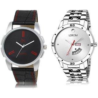 ADK Analog  Black&Silver Dial Wrist watch For  Men-AD-03-LK-103