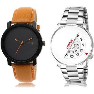 LOREM Analog  Black&White Dial Wrist watch For  Men-LK--20-106