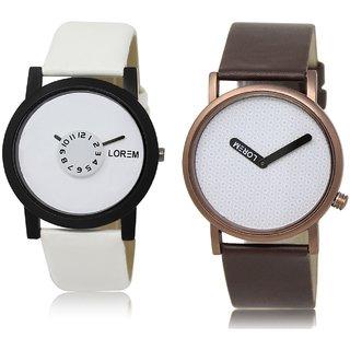 LOREM Analog  White Dial Wrist watch For  Men-LK-26-36