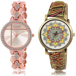 LOREM Analog  Rose Gold&Multicolor Dial Wrist watch For  Girls-LK--242-248