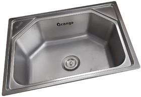 Orange Satin Finish Kitchen Sink 24x18x9 Inch