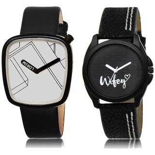 LOREM Analog  White&Black Dial Wrist watch For  Couple-LK-43-234