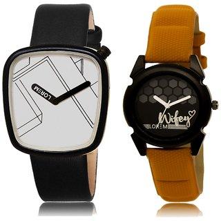 LOREM Analog  White&Black Dial Wrist watch For  Couple-LK-43-235