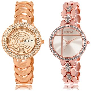 LOREM Analog  Rose Gold Dial Wrist watch For  Women-LK-202-242