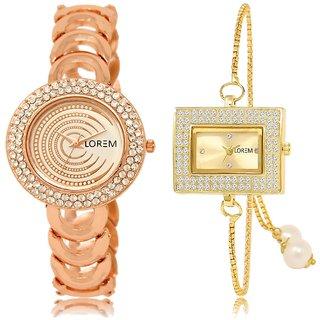 LOREM Analog  Rose Gold&Gold Dial Wrist watch For  Girls-LK--202-247