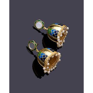Voylla Ombre Blue Belle Earrings