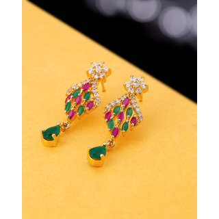 Voylla CZ Meenakari Inspired Earrings
