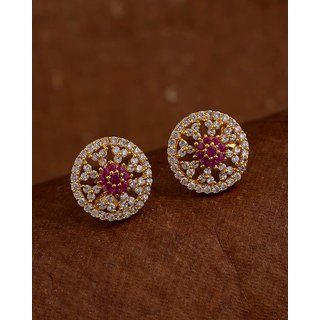 Voylla Tiny Floral Inspired Stud Earrings
