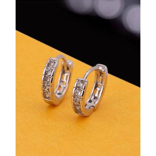 Voylla Gems Adorned Brass Earrings