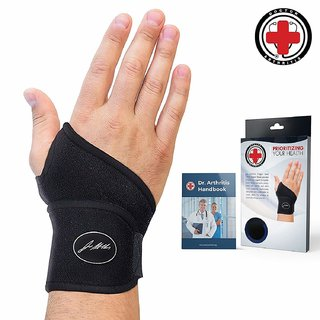 Doctor Developed Premium Copper Lined Wrist Support/Strap/Brace Single Doctor Written Handbook-Suitable for Both hand