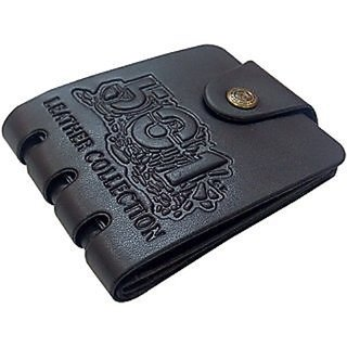 Men's Black PU Wallet (BW-06) (Synthetic leather/Rexine)