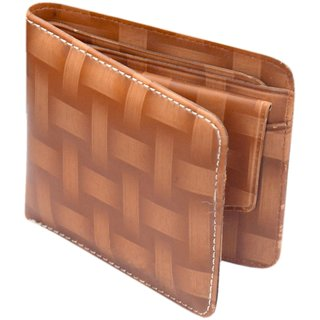 K Decor Brown PU Stylish Wallet For Mens (SW-001) (Synthetic leather/Rexine)