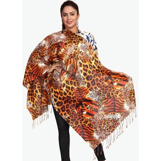 Monika Collection Trendy Printed Rayon Stole Size 70x180 cm